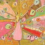 Oopsy Daisy Pfau You Rock Gespannte Leinwand Art Wand von Jennifer Mercede, canvas, 21 by 21-Inch