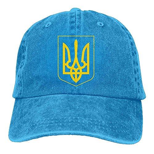 Wfispiy Ukraine Pride Vintage Style, Retro-Feel Ukrainian Coat of Arms Unisex Adjustable Noveity Cowboy Hat - Armee Camo Fitted Hut