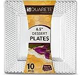10Stück klar quadratisch Hard Kunststoff Einweg Sechseck Design Party Teller, 6.5-16.5cm Plates