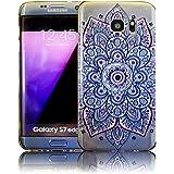 Samsung Galaxy S7 Edge - Design 11 Silicone Cristal Cristal Transparent Transparent Transparent Housse de protection Housse souple Housse Casque Pare-chocs Flip téléphone portable recto-verso Manche de protection Manche à téléphone portable thematys®