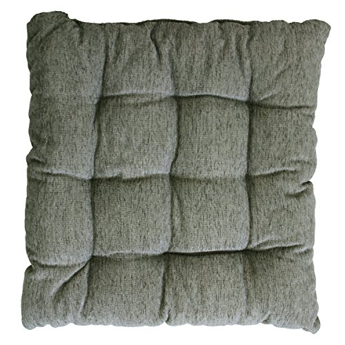 Story @ Home Best price Square Chair Pad Seat Cushion Car Pad Office Chair Pad Stool Cushion 1 PC Corduroy Chair Pad 14 inch X 14 Inch - Dark Grey  available at amazon for Rs.249
