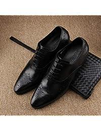 b4c1b69c47b LOVDRAM Bottes Homme Printemps Et Automne Nouveau Chaussures pour Hommes  Rétro Cravate Cravate en Cuir Bullock
