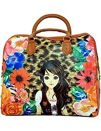 Kuber Industries Women Multi-Colored Travel Duffle Bag - B06XGWS349