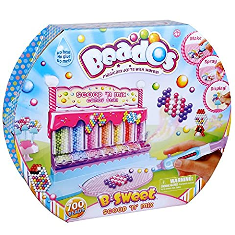 Beados – B-Sweet – Kit Créatif Magic Perl' Scoop 'n' Mix le Stand de Bonbons Version Anglaise