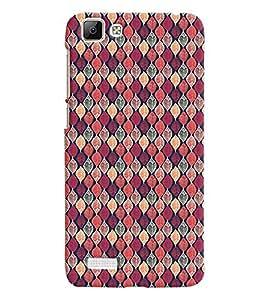 Printvisa Pink Assorted Leaves Pattern Back Case Cover for vivo V1