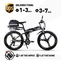 RICH BIT Elektrofahrräder 36V 12.8A Li-Batterie Faltrad MTB Mountainbike E Bike 26 Zoll Shimano 21 Speed Fahrrad…