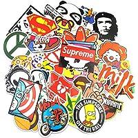 Neuleben Autocollant Lot (200-pcs) Graffiti Autocollant Stickers vinyles pour ordinateur portable, enfants, voitures, moto, vélo, Skateboard bagages, Bumper Stickers hippie autocollants Bomb étanche.