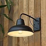 LDDENDP Style industriel vintage - Lanternes d'extérieur, Rétro lampes, Tube en col de cygne forgé E 27, Nostalgic American S