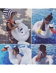 Smartlife cisne cisne blanco anillo de natación inflable para bebé Swim Flotador Agua Piscina Juguetes