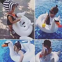 SmartLife Summer bébé Blanc Swan Anneau de natation gonflable Swan Swim Float Eau Fun piscine Jouets