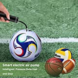 Morpilot Automatic Electric Fast Ball Pump- Air Pump for Inflatables,Pump for Athletic Basketball, Soccer, Volleyball, Football, Sport Ball and Swimming Ring for Basketball Training