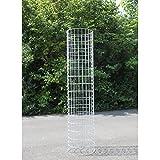 Estexo® Home&Garden Gabione Steingabionen Steinkorb Gabionen Wand Drahtkorb Mauer Säule Säulen 5x10 Größe: Säule 140 cm