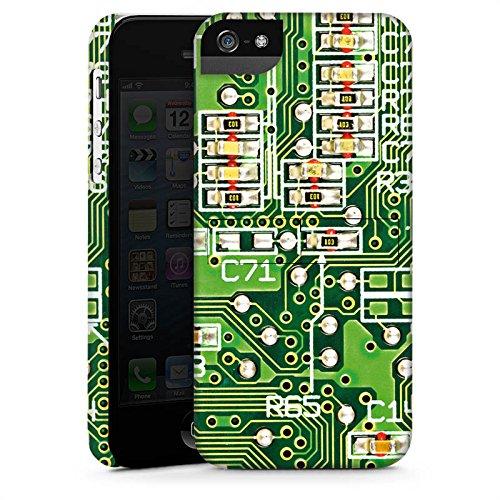 Apple iPhone X Silikon Hülle Case Schutzhülle Platine Computer Muster Premium Case StandUp