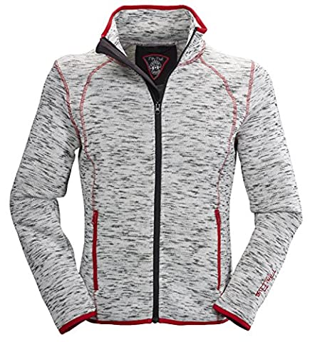 Fifty Five Damen Fleece-Jacke   Strick-Jacken - Saint Catharines grey 34 - Freizeitjacke, dezent taillierter