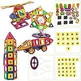 Goolsky- Mini Diseñador Magnético Construcción Conjunto Modelo Building Plaything Bloques de Plástico Inteligencia Educativa para Niños Regalo de los niños