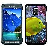 Hülle Case Schutzhülle Cover Premium Case // F00017679 Yellow tang Fisch im Wasser // Samsung Galaxy S5 Active SM-G870A (Not Fit S5)
