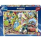 Puzzles Educa - Mundos Disney, puzzle de 1000 piezas (15555)