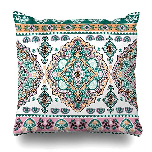 (Rghkjlp DecorativeKissens Case Throw Kissens Covers for Couch/Bed 18 x 18 inch,Tropical Blue Indigo Leaves Flowers Home Sofa Cushion Cover Kissencase Gift Bed Car Living Home)