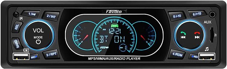 Favoto Autoradio Bluetooth Freisprecheinrichtung Auto Radio MP3 din 1 FM Radio USB/SD/AUX Fernbedienung mit Deutscher Bedienungsanleitung