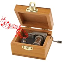 Electomania Wood Musical Box, Music Box, Hand Cranked Musical Box, Wooden Classic Music Box (Tune: Castle in The Sky)