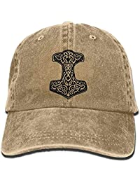 Thors Hammer Viking Norse Adjustable Cotton Hat