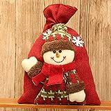 Amphia Weihnachten GeschenSchmuckbeutel - Santa Claus Snowman Elk Christmas Candy Verpackung WeihnachtsBonbons Dekoration(Größe:20 * 28cm.)