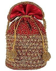 Ahankara Womens Potli (Maroon Gold) (AMPU0000004)
