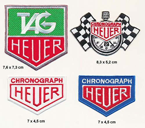 TAG Heuer parche para planchar Patch 4pieza Motor Sport F1Racing Team Turbo Envío