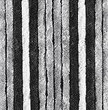 Arisol FRA501047 - Cortina de Felpa (Chenilla), Color Gris, Antracita y Negro