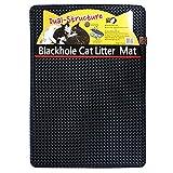 BlackHole Vorleger für Katzentoiletten ® - 76.2 cm x 58.4 cm - Groß Rechteckig Doppelte Struktur Matte (Dunkelgrau)