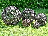 Weidenkugel 60 cm - Garten Deko Kugel aus Weide Natur Dekoration Weidenball Weidengeflecht - Handmade in EU -