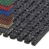 etm® Sicherheitsmatte gegen Glätte | rutschfeste Granulat Beschichtung | deutsches Qualitätsprodukt | 120 cm Breite | viele Farben und Längen (8 m Länge, anthrazit)