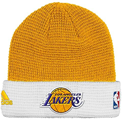 Los Angeles Lakers Adidas NBA 2015 Authentic Team Cuffed Knit Hat