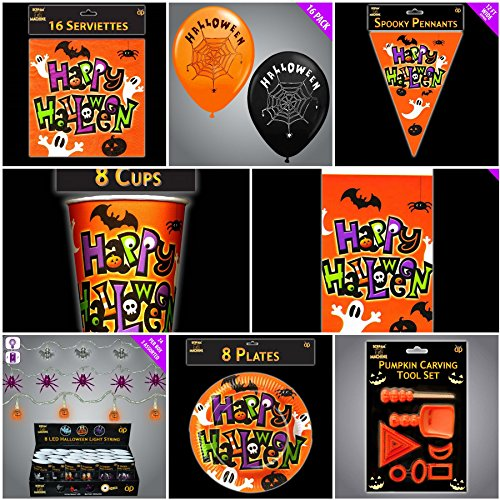 imate Bumper Party Pack & Dekorationen (Spooky Halloween-food Dekorationen)