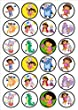 Dora The Explorer Edible PREMIUM THICKNESS SWEETENED VANILLA,Wafer Rice Paper Cupcake Toppers/Decorations