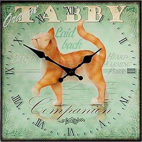 Orange Tabby Cat - Pedigree Pals Wall Clock 30cm
