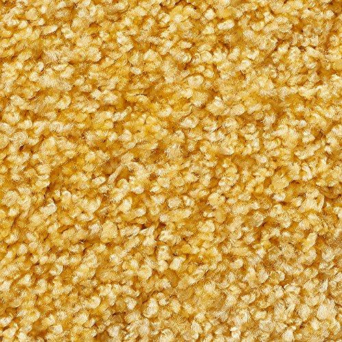 Teppichboden Auslegware | Hochflor Langflor | 400 und 500 cm Breite | gelb | Meterware, verschiedene Größen | Größe: 1 Muster