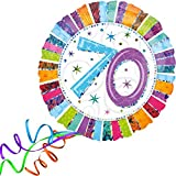 Folienballon 70 GLITZER XXL 45cm, mit Helium gefüllter Luftballon zum Geburtstag + PORTOFREI + Geschenkkarte. High Quality Premium Ballons vom Luftballonprofi & deutschen Heliumballon Experten. Luftballondeko zum Geburtstag oder Jubiläum. Lustiger Geburtstagsgeschenk Ballon