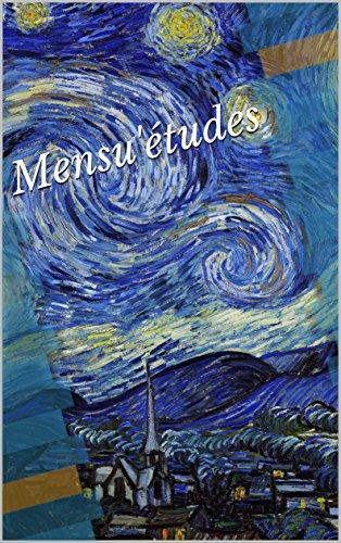 Couverture du livre Mensu'études