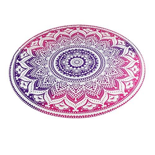 Xinan Hippie Ronde Tapisserie Ronde Mandala Plage Serviette Yoga Mat Bohème Nappe Glands Décoratifs Multicolore