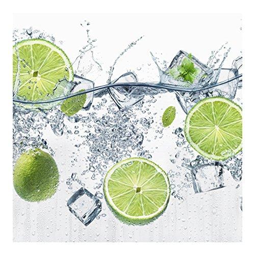 Vliestapete Erfrischende Limette, HxB: 240cm x 240cm