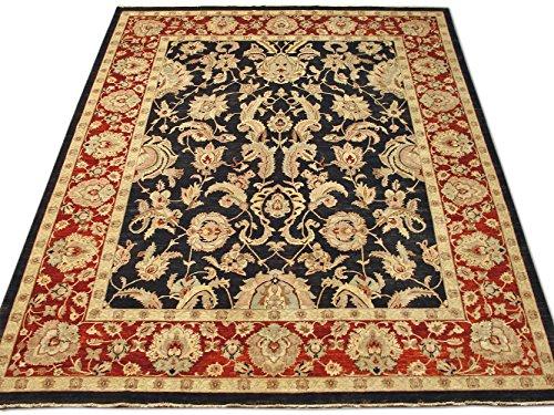 Pak Persian Rugs Handgeknüpfter Mahal Teppich, Schwarz, Wolle, 363 X 453 cm (Teppich Schwarz Mahal)