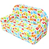 Kindersofa Kindersessel Kindercouch Kindermöbel Klappsessel Bettfunktion Sofa Design 4 NEU
