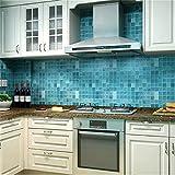 CanVivi Küche Folien Fliesen Wandaufkleber Badezimmer Wandtattoo Wandsticker Wand Dekoration ,Blau