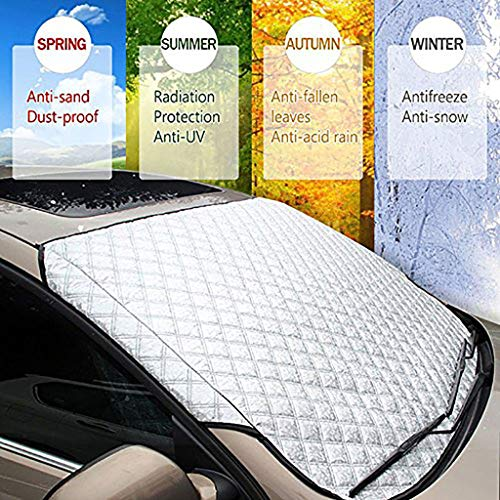 Preisvergleich Produktbild Xx Auto Windschutzscheibe Frostschutz Schnee Magnetische Abdeckung Windschutzscheibe Sonnenschutz Wasserdichter Staubschutz und Eisschutz in Allwetter-Autoabdeckung mit Zwei Spiegelabdeckungen