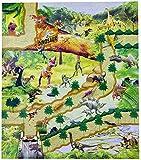 Matte , Teppich Land Dinosaurier-Figuren + 70cmx80cm