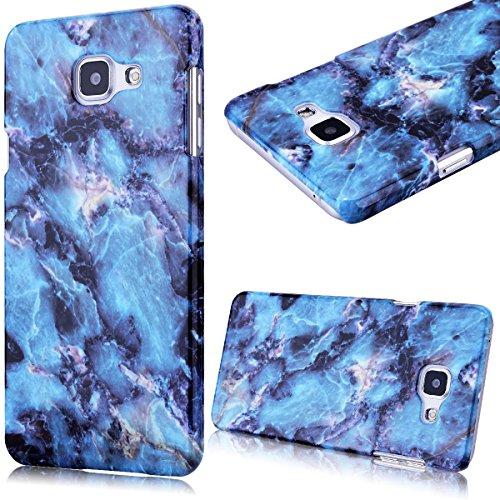 GrandEver Custodia Rigida per Samsung Galaxy A5(2016), Design Marmo Modello UltraSlim Dura PC Protettiva Cover Case Della Protezione Anti-urto - Blu