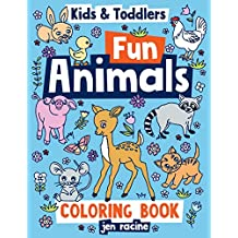 Kids & Toddlers Coloring Book: Fun Animals (Toddler Coloring Books)