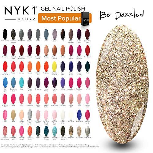 Glitter Gold Gel Nagellack - (Be Dazzled) Diamant UV LED Gel Lack Farbe von NYK1 Nailac Shellac Lampe Heilung Gel Nail Art Frühling Weihnachten Farbe -