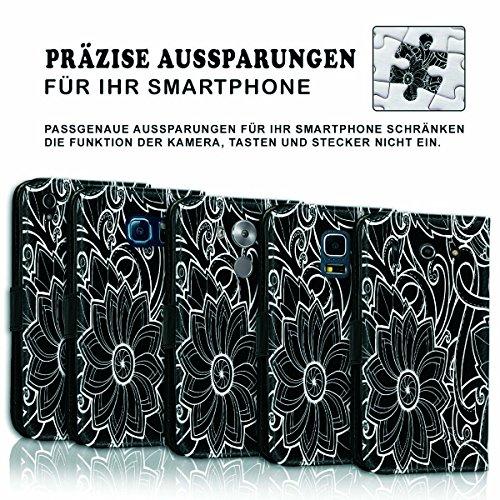 Wallet Book Style Flip Handy Tasche Case Schutz Hülle Schale Motiv Etui für Apple iPhone 5 / 5S - Variante UMV17 Design12 Design 9